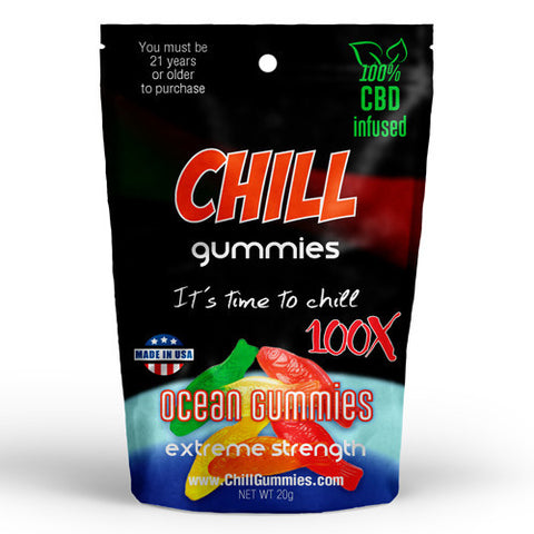 CHILL GUMMIES - CBD INFUSED OCEAN GUMMIES<br> (Box of 12)