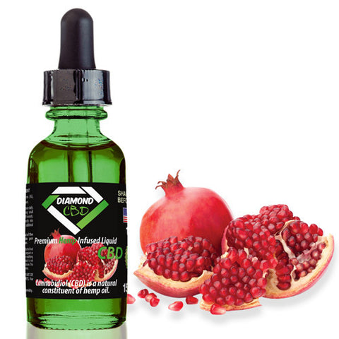 Diamond CBD Pomegranate flavor (50mg-550mg) - 15ml