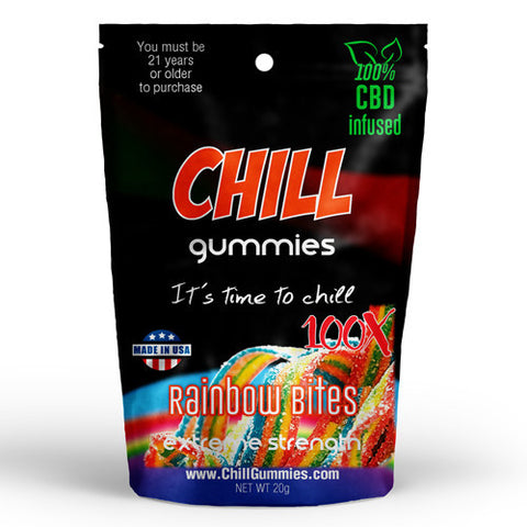 CHILL GUMMIES - CBD INFUSED RAINBOW BITES<br> (Box of 12)