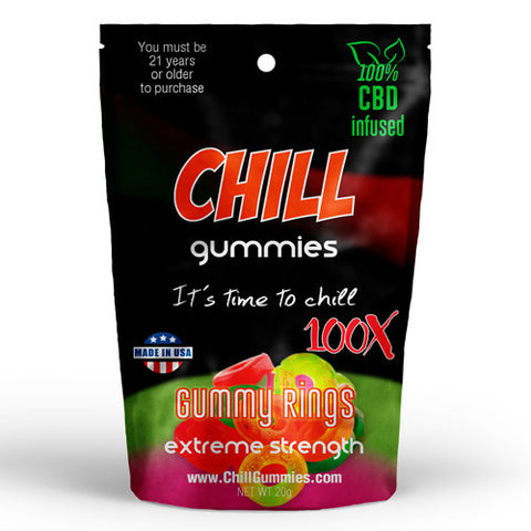 CHILL GUMMIES - CBD INFUSED GUMMY RINGS<br> (Box of 12)