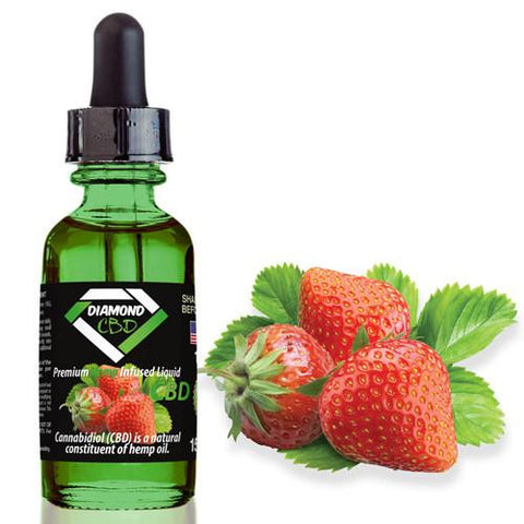 Diamond CBD Strawberry flavor (50mg-550mg) - 15ml