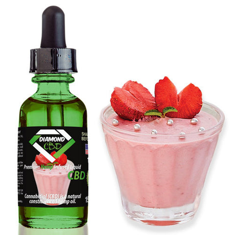 Diamond CBD Strawberry Yogurt flavor (50mg-550mg) - 15ml