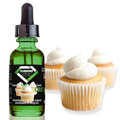 Diamond CBD Vanilla Cupcake flavor (50mg-550mg) - 15ml