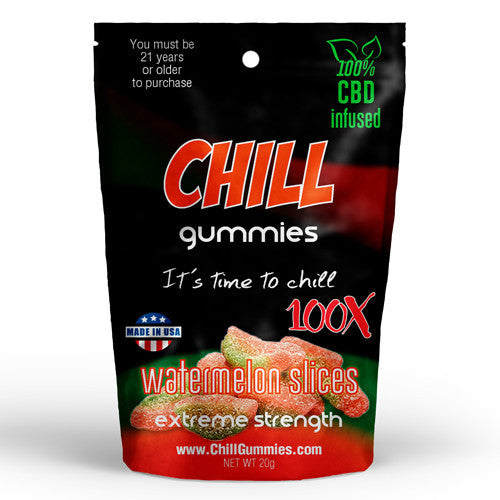 CHILL GUMMIES - CBD INFUSED WATERMELON SLICES<br> (Box of 12)