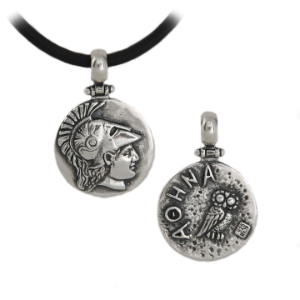 Athena pendant in sterling silver.