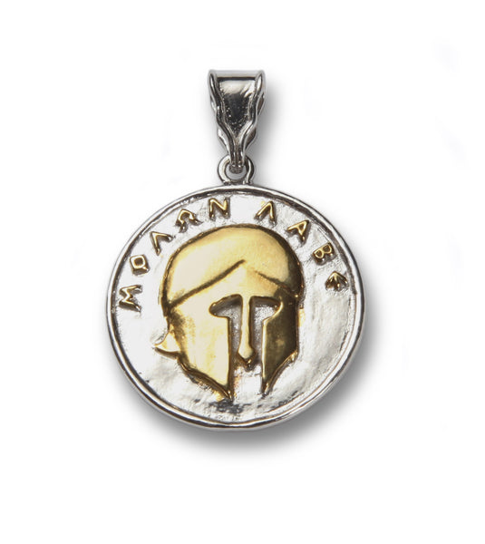 MOLON LABE sterling silver and gold plated pendant