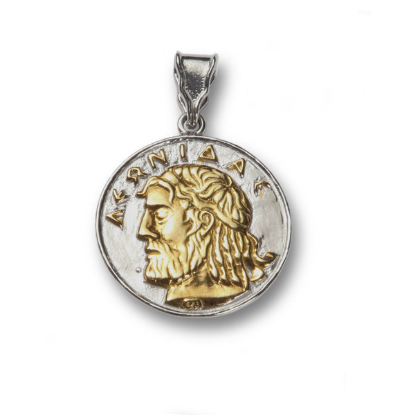 Leonidas sterling silver and gold plated pendant