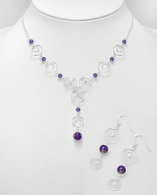 Amethyst Greek Design Necklace