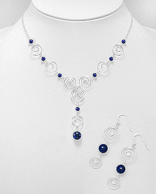 Lapis Greek Design Necklace