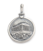 Parthenon pendant in sterling silver.