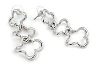 Sterling silver flower shaped earrings