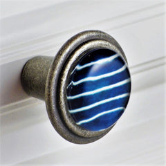 crew blue stripe pewter knob