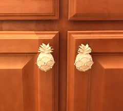 EE-322 glass jewel iron pineapple knobs