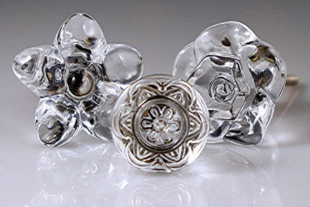 lucent glass cabinetry knobs