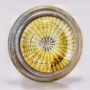 Pewter and Glass Knob – SweetGrass Basket Weave