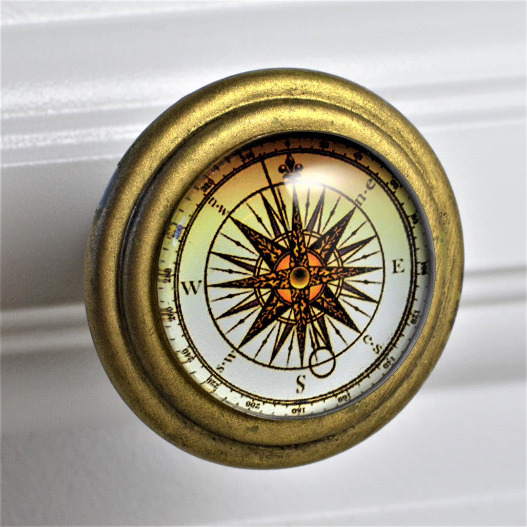 Compass Face Brass Knob Charleston Knob Company