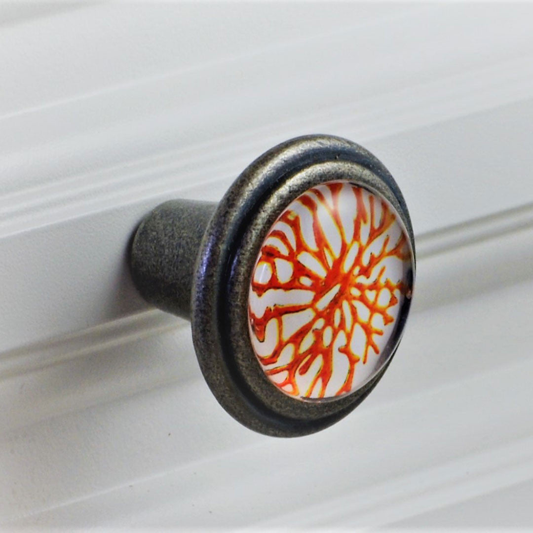 Burnished Coral Silver Knob Charleston Knob Company