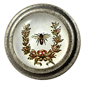 Charleston Knob Company Burnished Silver Knob Bumblebee
