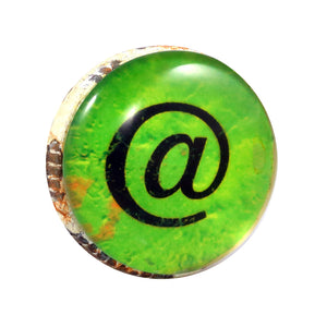 Retro Whitewashed Metal Knob Black and Green keyboard at Symbol