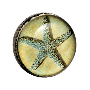 Retro Whitewashed Metal Knob – Starfish | Charleston Knob Company
