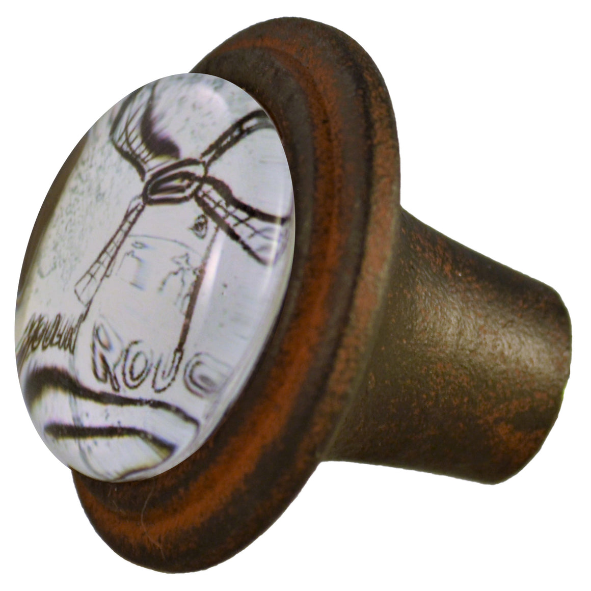 Moulin Rouge Iron Knob Cafe Brown Charleston Knob Company