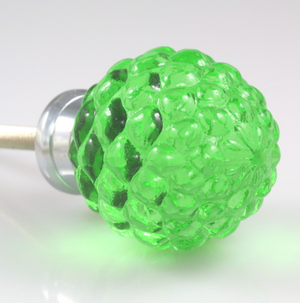 Glass Crystal Pineapple Knob – small in green or amber