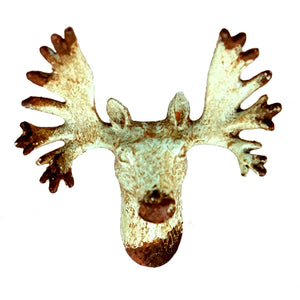 Stag Head Knob or pull - Verdigris