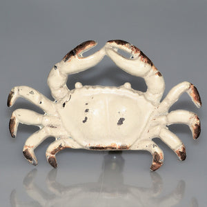 Whitewashed Fiddler Crab iron Knobs or pulls