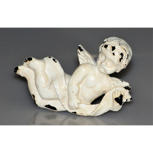 Whitewashed Pair of Cherubs -  Knobs pulls