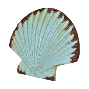Scallop Shell Iron Knob - Seafoam Green