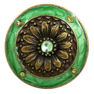 Cloisonne Jewel Knob – Teal