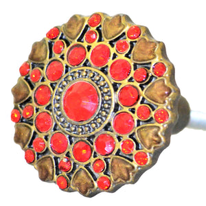 Cloisonne Jewel Knob - Ruby