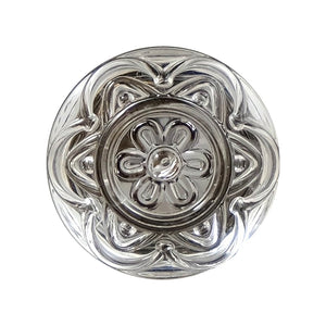 round Lucent Flower Knob one and one quarter inches in diameter