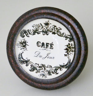 """Cafe du Jour"" Iron Knob - Cafe Brown"