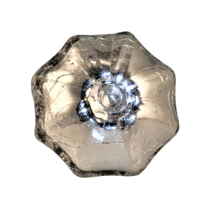 silver glass knob - mercury glass parasol shape