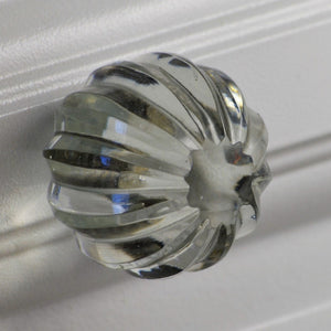 Crystal Glass Clear Knob