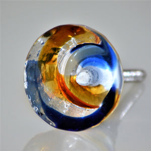 Rainbow Glass Knob