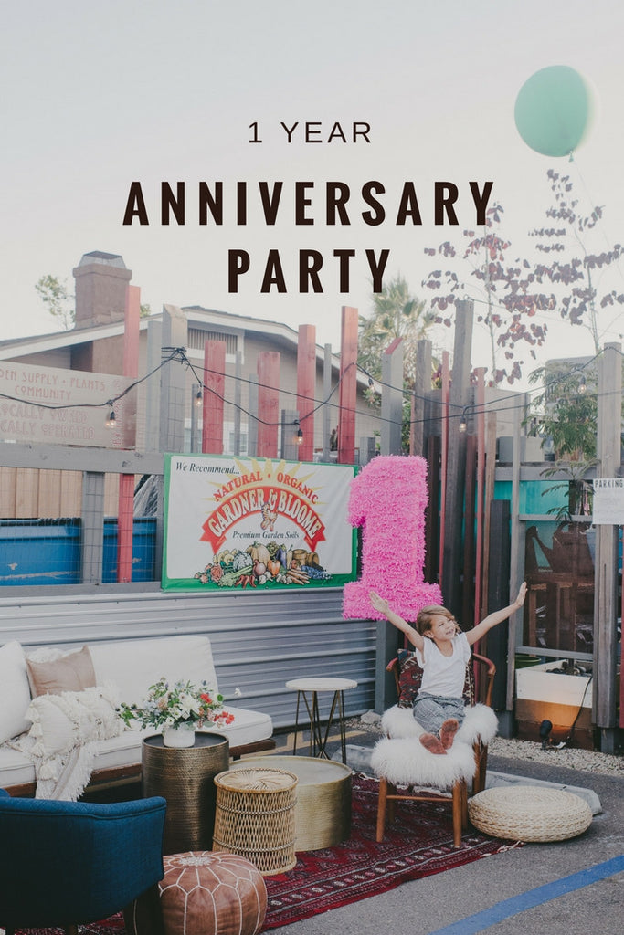 coffee + flowers anniversary party