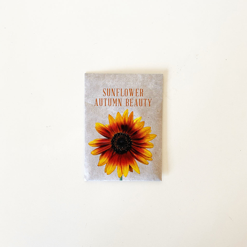 Sunflower Autumn Beauty seed packet