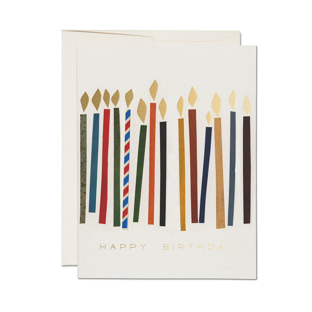 Candles Card | Red Cap Cards