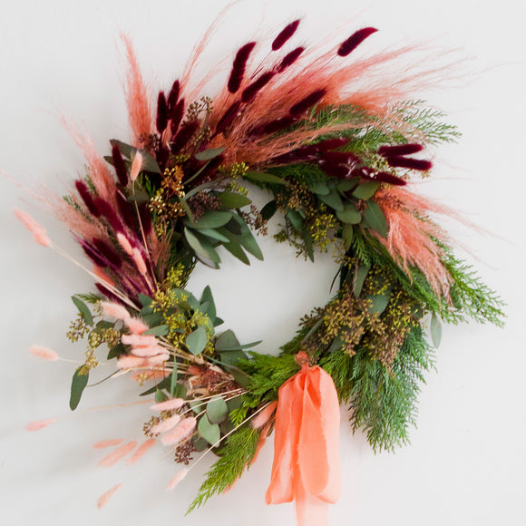 Classic holiday wreath from San Diego FloristNative Poppy