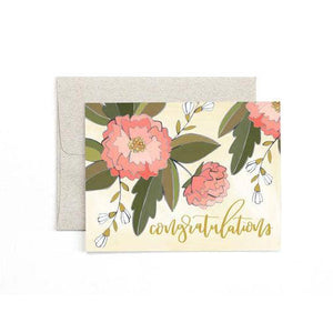 Congrats Peonies Card | One Canoe Two