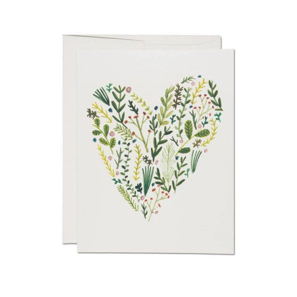 Floral Heart Card | Red Cap Cards