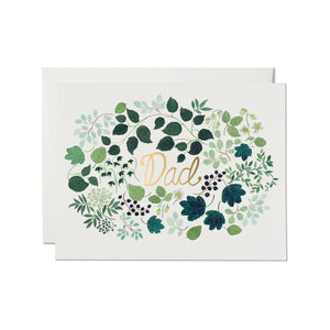 Dad Green Floral Burst Card | Red Cap Cards