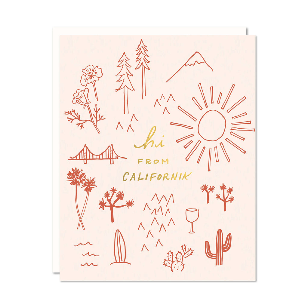 Hi From CA Card | Odd Daughter Paper Co.