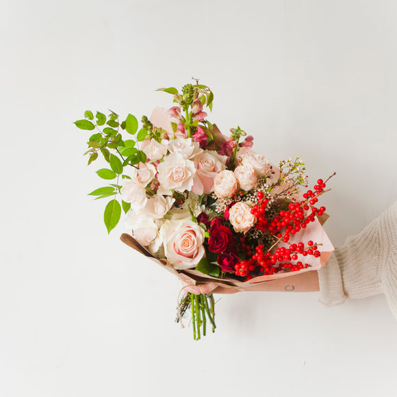 Holiday flower wrap from San Diego Florist Native Poppy