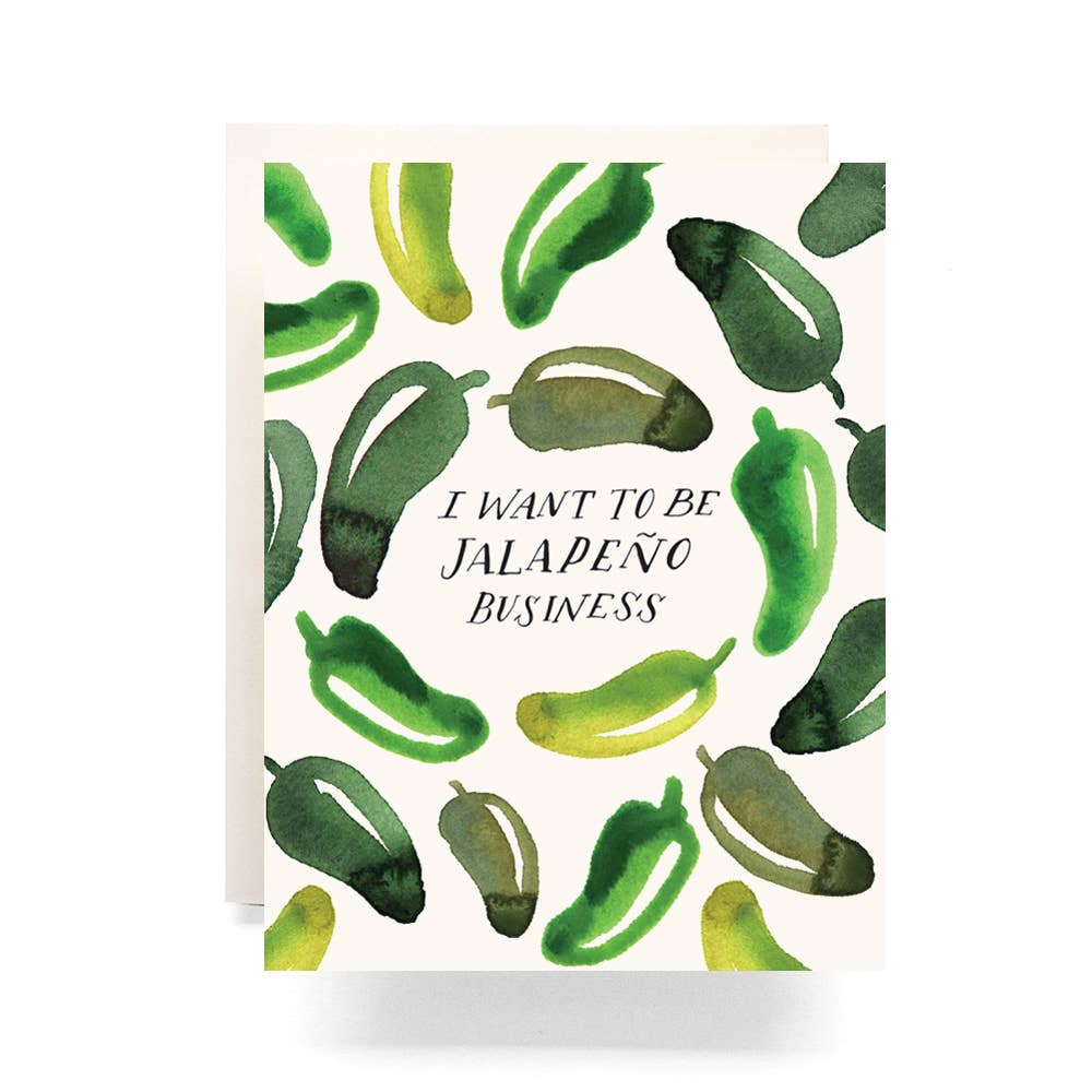 Jalapeno Business Greeting Card by Antiquaria