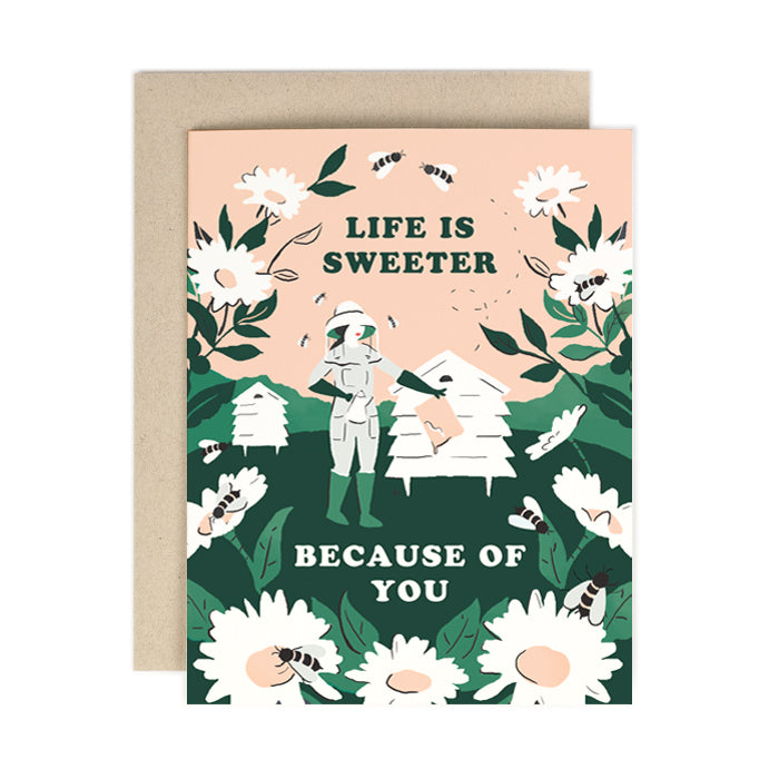 Life Is Sweeter Beekeeper Card from Amy Heitman