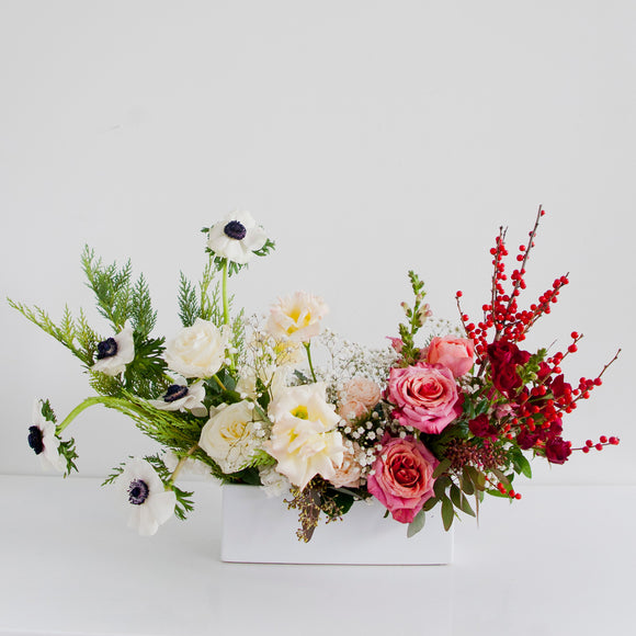Holiday Long & Low Flower Arrangement