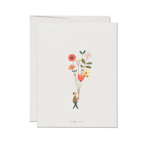 Long Stem Thank You Card | Red Cap Cards